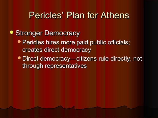 When was the age of Pericles?