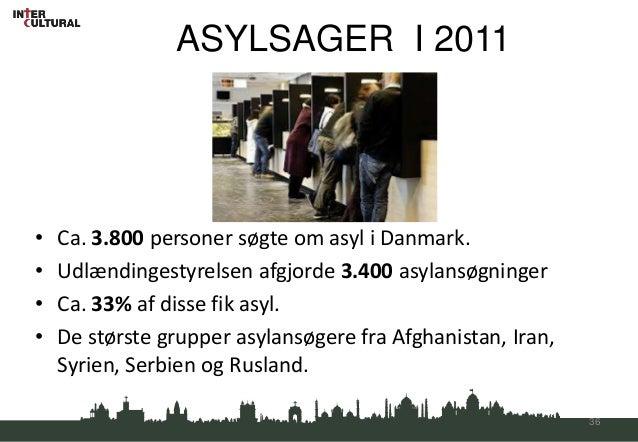ASYLSAGER I 2011•   Ca. 3.800 personer søgte om asyl i Danmark.•   Udlændingestyrelsen afgjorde 3.400 asylansøgninger•   C...
