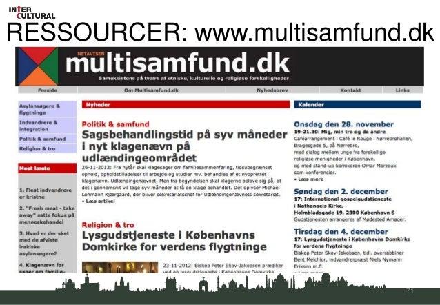 RESSOURCER: www.multisamfund.dk                            71