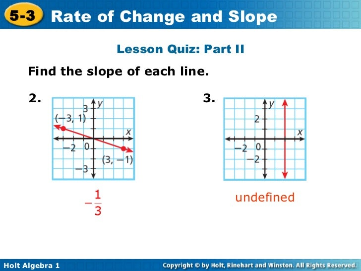 53 rate of change – Slope As a Rate of Change Worksheet