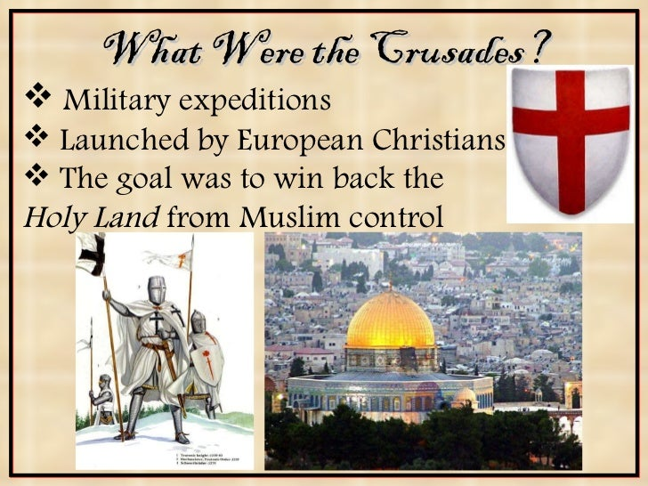 the crusades were launched to regain the holy land from muslims These wars were launched against the 'saracens'  the major purpose of the crusades was to free the holy land from the hands of the moslems  this acted as .