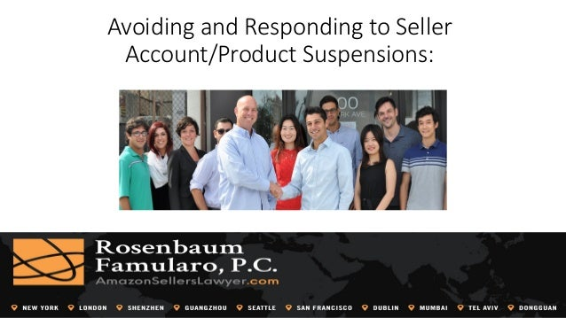 Avoiding and Responding to Seller Account/Product Suspensions: