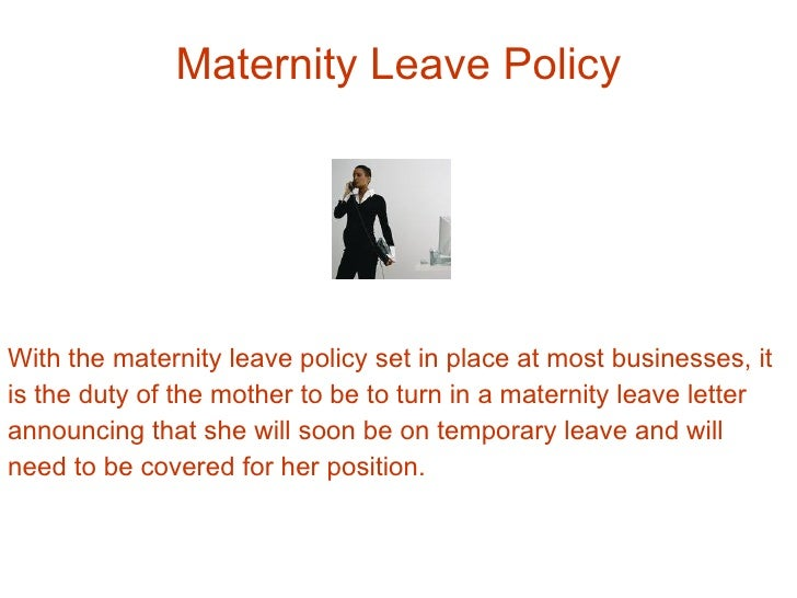 Why it is important to hand in a maternity leave letter maternity leave spiritdancerdesigns Images