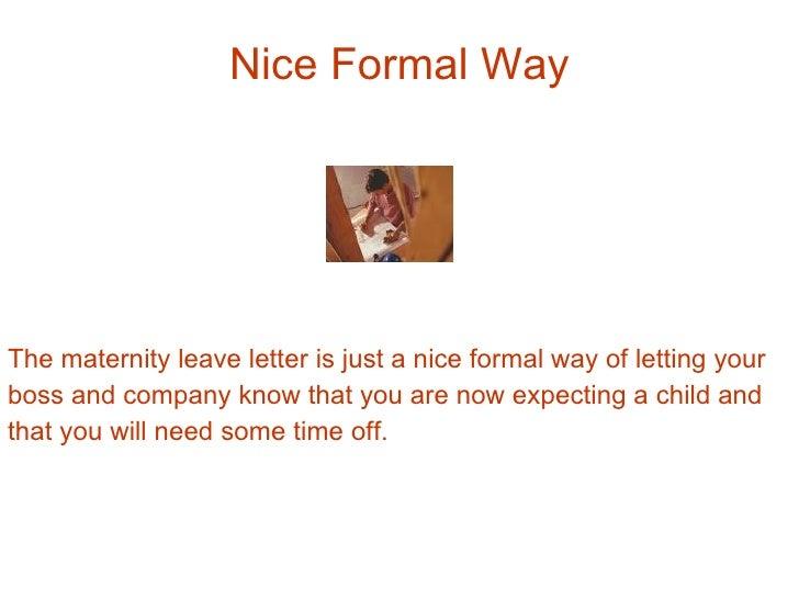 Formal letter for maternity leave roho4senses formal letter for maternity leave spiritdancerdesigns Choice Image