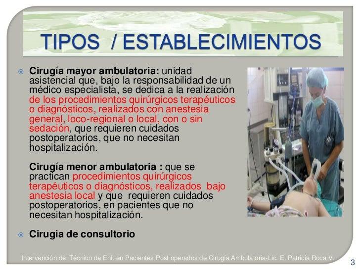 Tec enf pacientes cirugía ambulatoria - CICAT-SALUD Slide 3