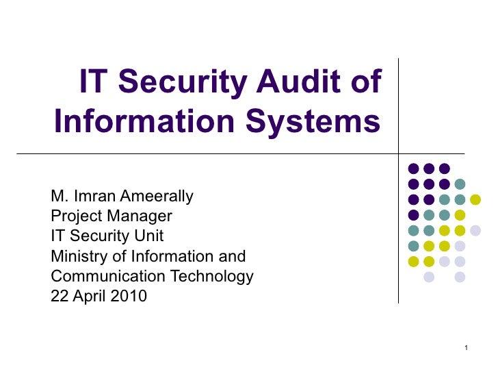 5 4 it security audit  mauritius