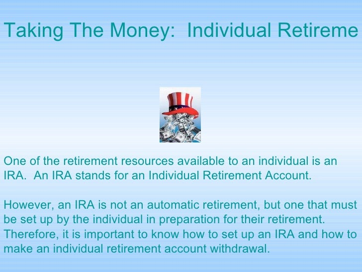 an analysis of the importance of individual retirement accounts Modify their investment choices in their retirement accounts retirement income subject to individual and retirement income goals the analysis is based on.