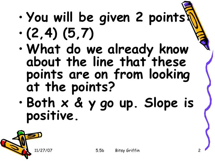 5 5b Slope Intercept Form From Two Points