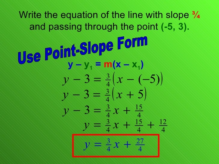 point slope form of a linear equation formula  13.13 Linear Equations Point Slope Form