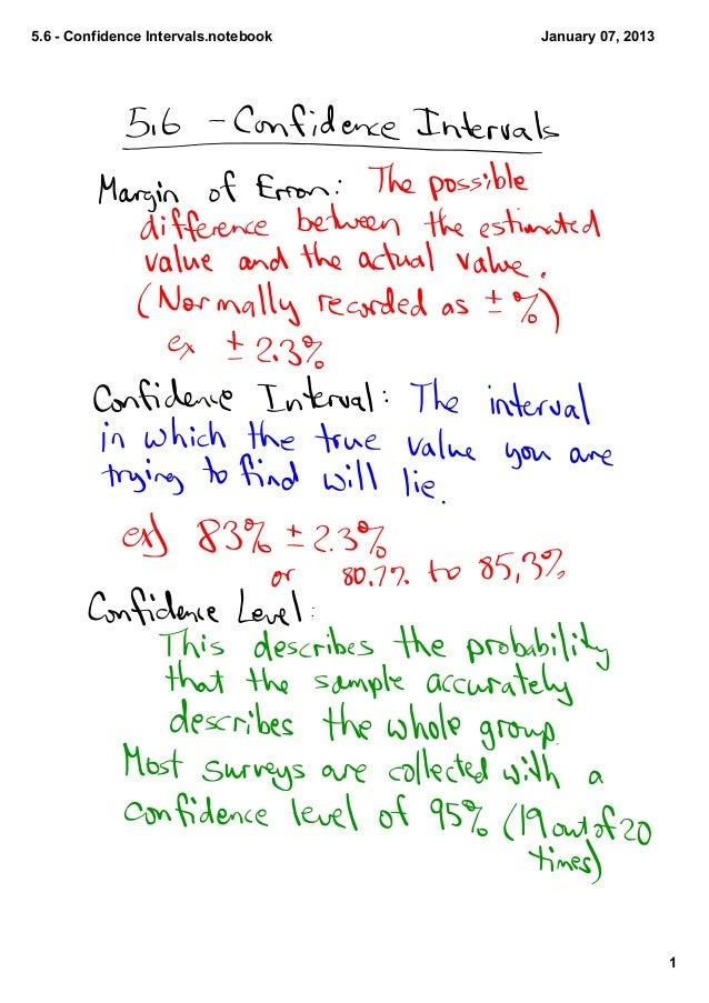 5.6ConfidenceIntervals.notebook   January07,2013                                                         1