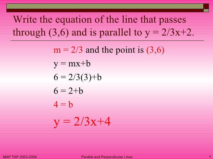 how to find perpendicular lines that pass through a point