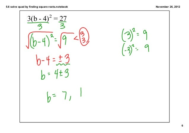 how to solve quadratics with square roots