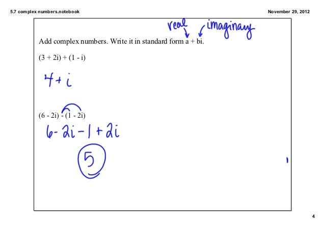 57 Imaginary And Complex Numbers