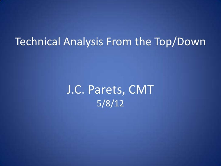 Technical Analysis From the Top/Down         J.C. Parets, CMT               5/8/12