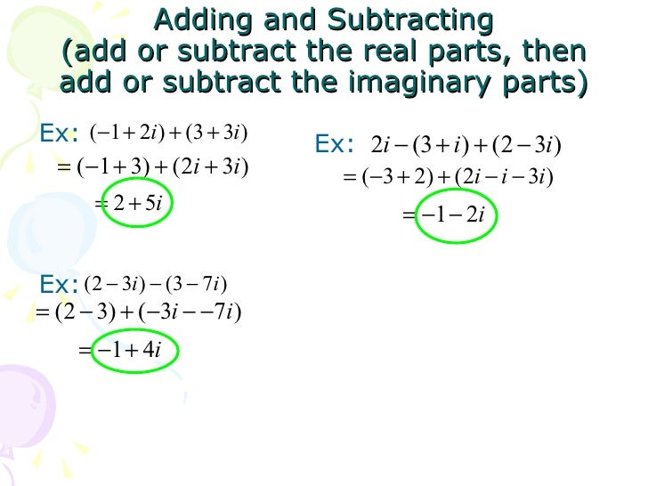 Adding Subtracting Complex Numbers Worksheet Worksheets for all ...