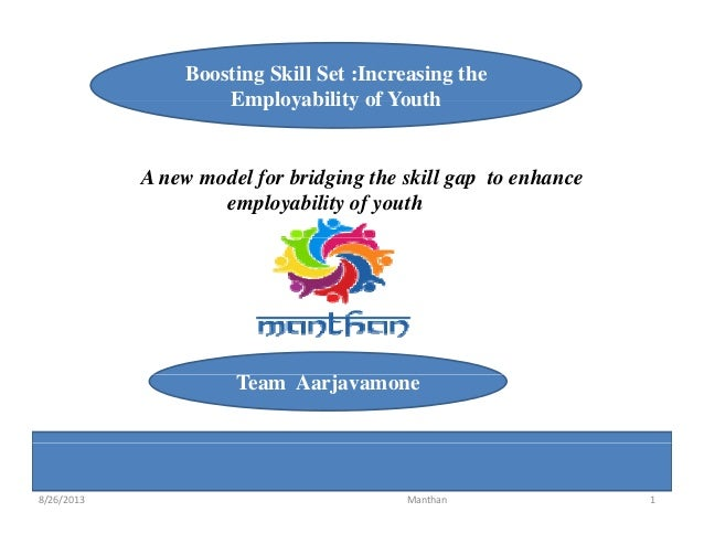 Boosting Skill Set :Increasing the Employability of YouthEmployability of Youth A new model for bridging the skill gap to ...