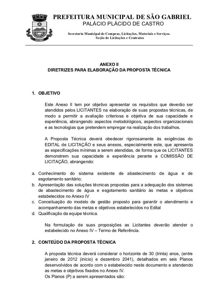 PREFEITURA MUNICIPAL DE SÃO GABRIEL                          PALÁCIO PLÁCIDO DE CASTRO                 Secretaria Municipa...