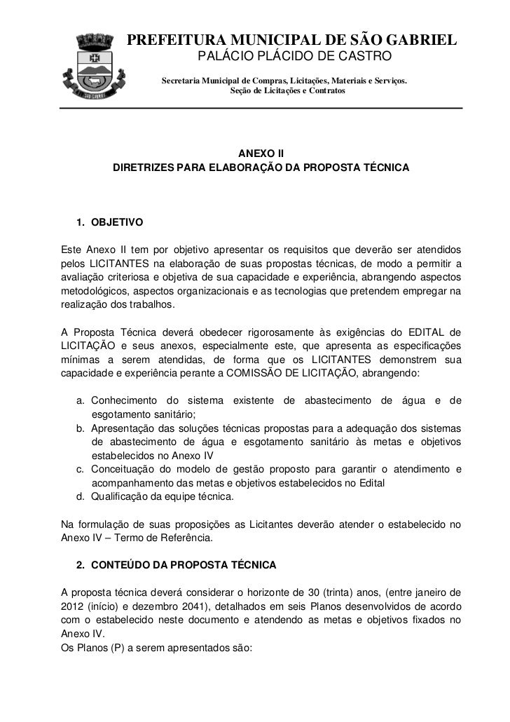 PREFEITURA MUNICIPAL DE SÃO GABRIEL                               PALÁCIO PLÁCIDO DE CASTRO                      Secretari...