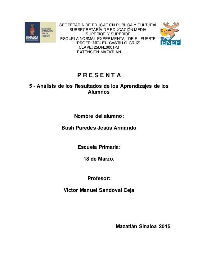 SECRETARÍA DE EDUCACIÓN PÚBLICA Y CULTURAL SUBSECRETARÍA DE EDUCACIÓN MEDIA SUPERIOR Y SUPERIOR ESCUELA NORMAL EXPERIMENTA...