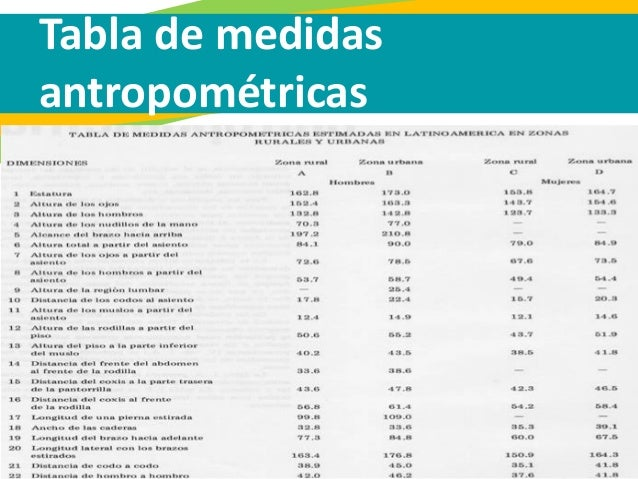 5 antropometr a escala y proporci n for Medidas ergonomicas del cuerpo humano