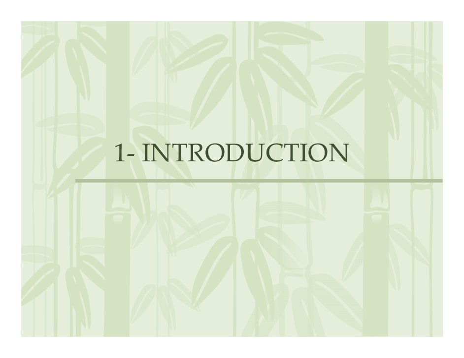 1‐ INTRODUCTION