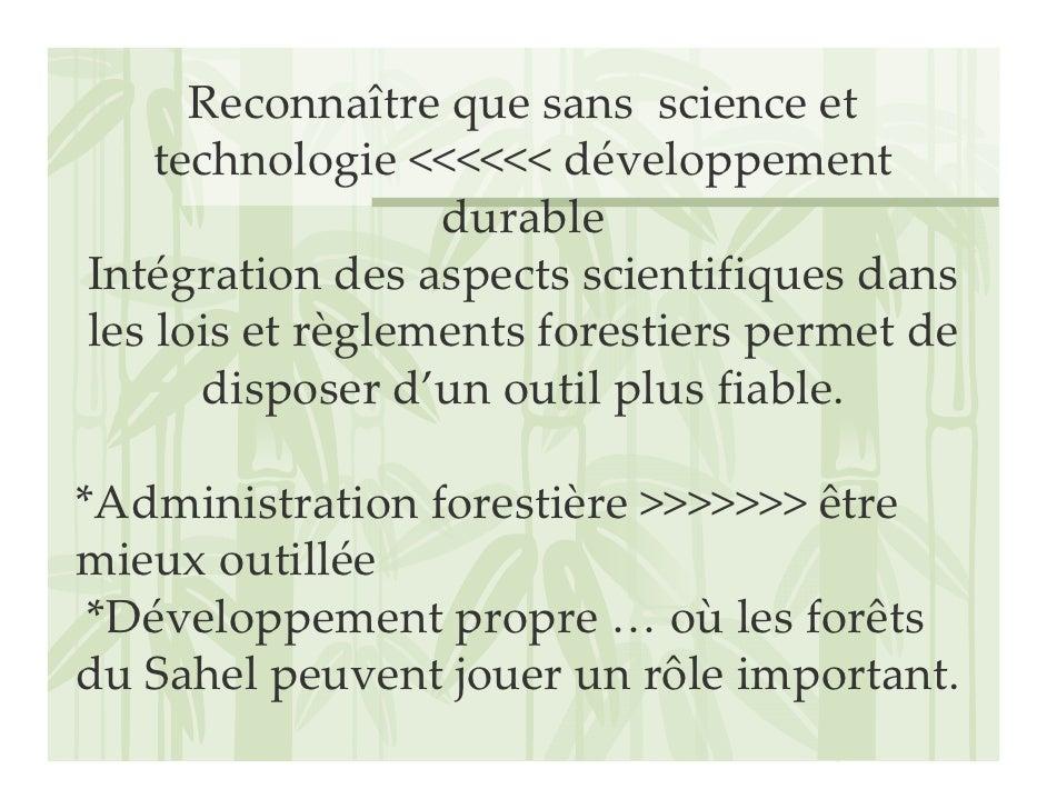 Reconnaîtrequesansscienceet     technologie<<<<<<développement                   durable Intégrationdesaspects...