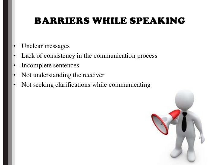 Barriers in speaking english as a