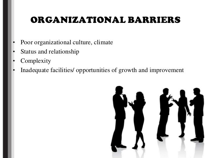 barries in effective communication Diversity and barriers barriers to effective communication can distort a message and its intention, which may result in failure of the communication process or damage to a relationship these barriers include filtering, selective perception, information overload.