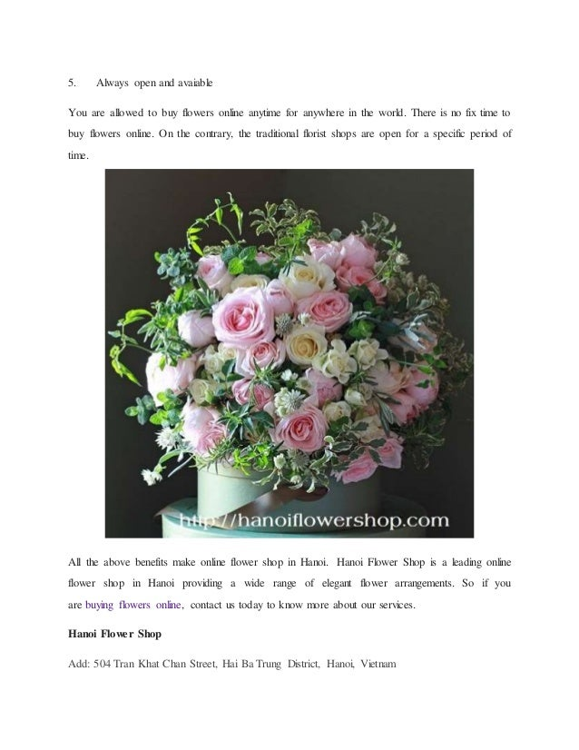 5 benefits of buying flowers online at hanoi flower shop for Buy plans online