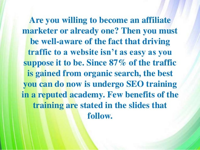 5 Benefits Of Undergoing SEO Training You Were Not Aware Of Slide 2