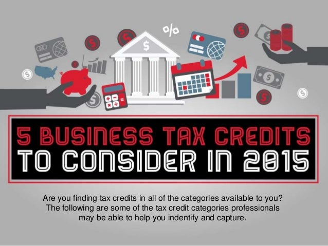 Business Tax Credits: 5 Most Important in 2015