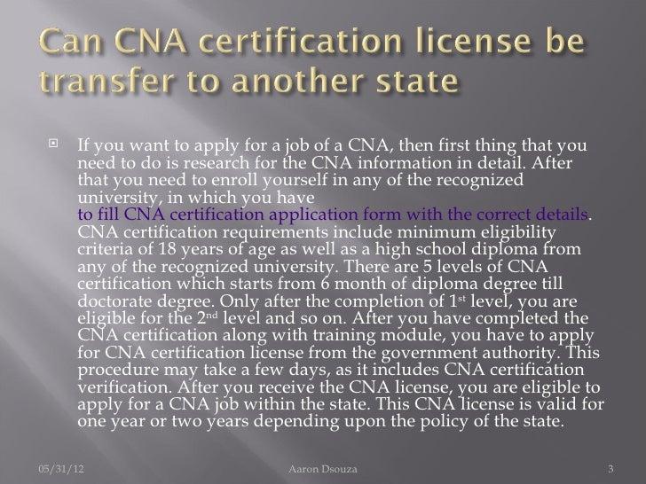 Free Professional Resume Cna Certification Verification