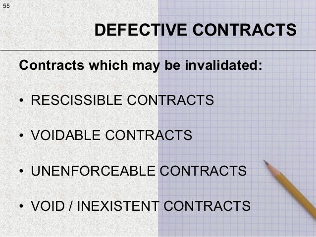 defective contracts