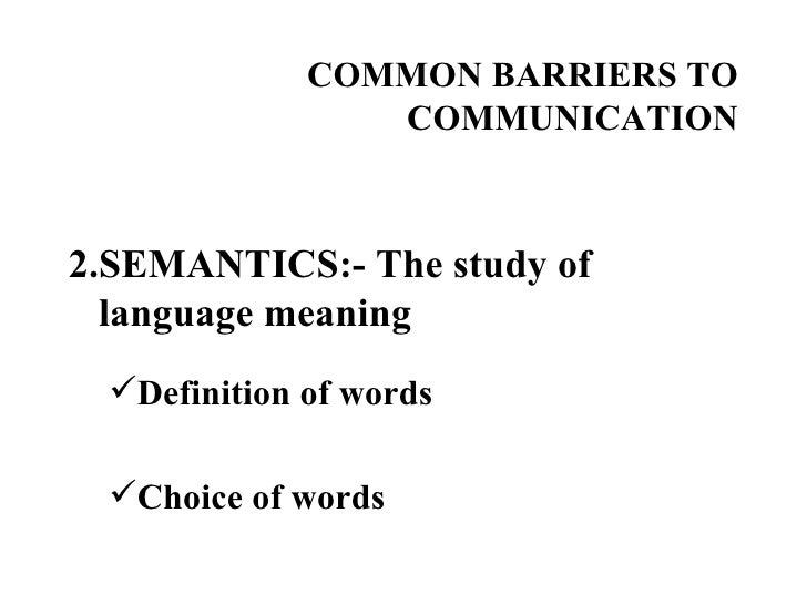 Language Barriers to Communication