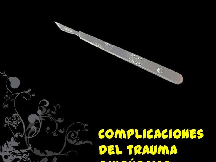 Complicacionesdel trauma