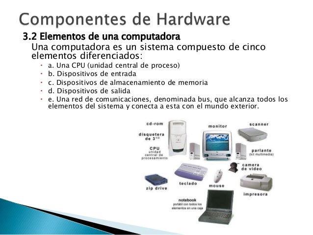 5 componentes de hardware for Elementos de hardware