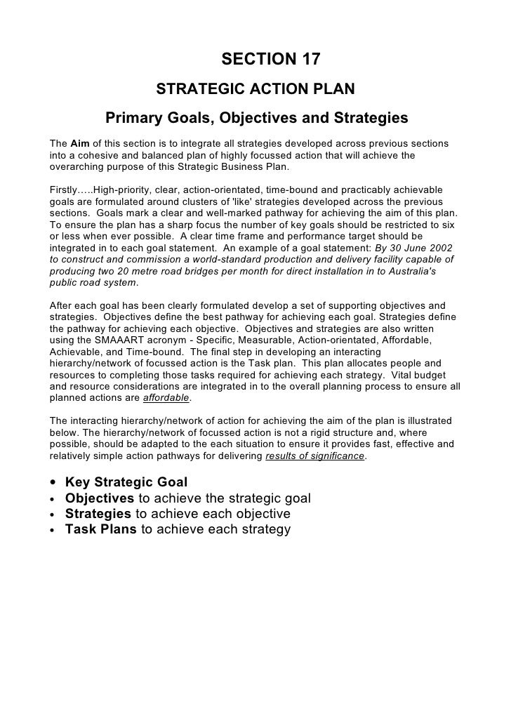 Comprehensive Strategic Business Plan Template