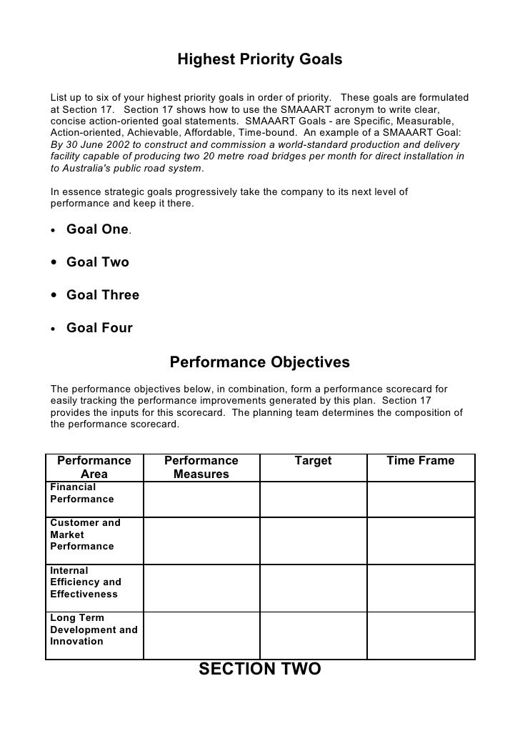 5 comprehensive strategic business plan template 7 flashek Images