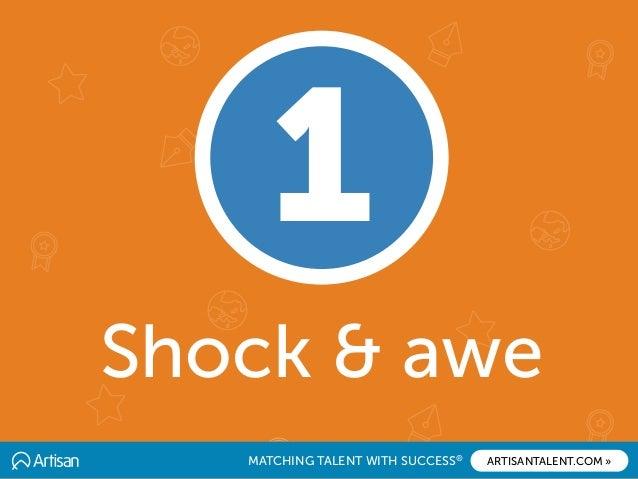 MATCHING TALENT WITH SUCCESS® ARTISANTALENT.COM » Shock & awe 1
