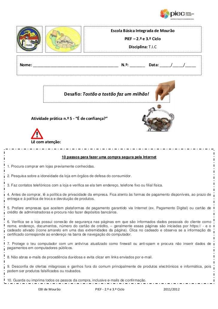 Escola Básica Integrada de Mourão                                                                                  PIEF – ...