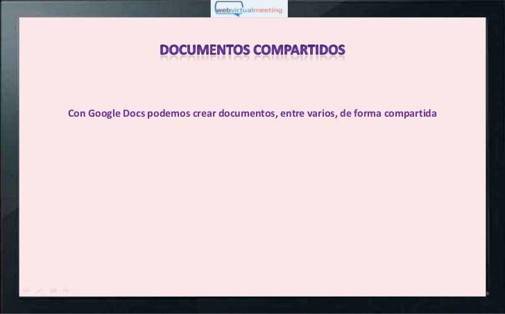 Con Google Docs podemos crear documentos, entre varios, de forma compartida