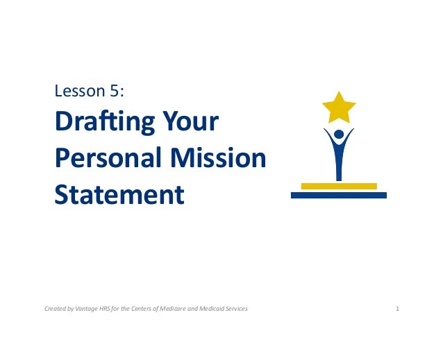 writing a personal mission statement lesson plan