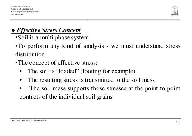 Total and effective stress.