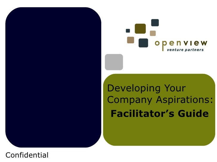 Developing Your Company Aspirations: Facilitator's Guide