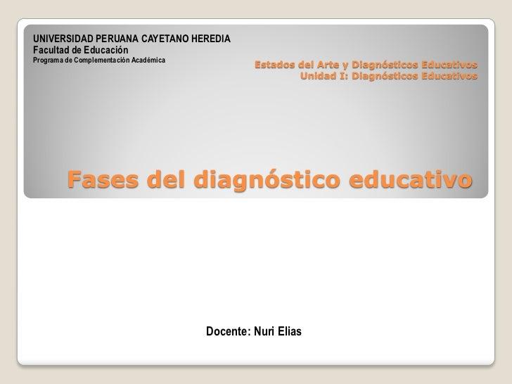 UNIVERSIDAD PERUANA CAYETANO HEREDIA Facultad de Educación Programa de Complementación Académica                          ...