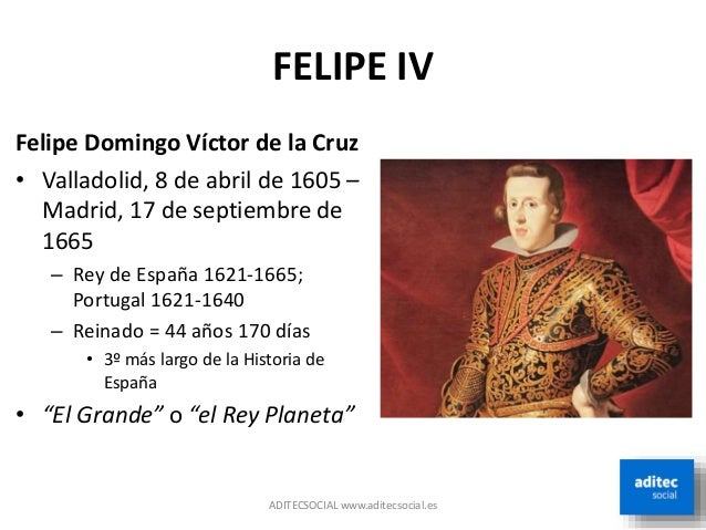 5.- El reinado de Felipe IV