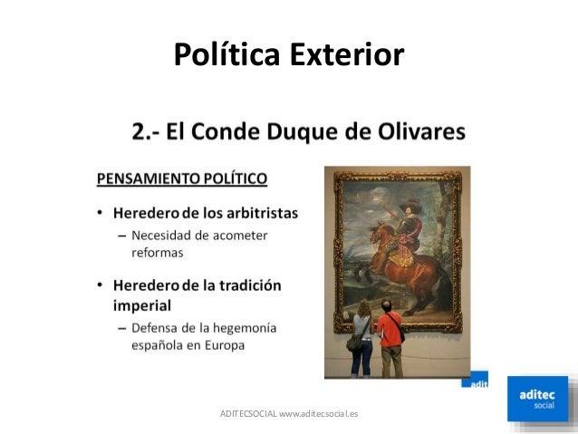 5 el reinado de felipe iv for La politica exterior de espana