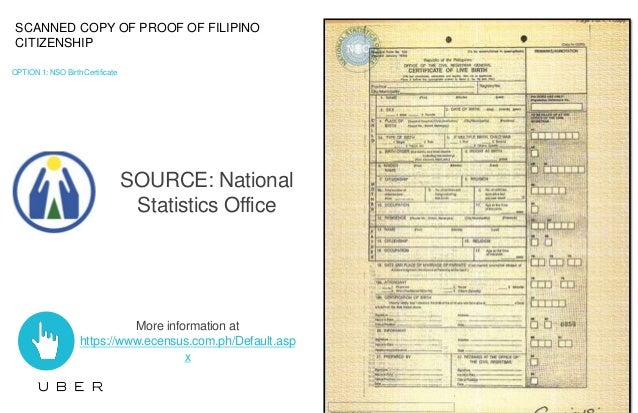 5 - Proof of Filipino Citizenship