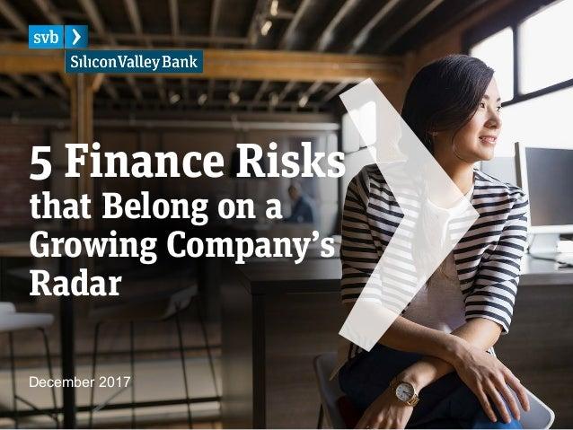 5 Finance Risks that Belong on a Growing Company's Radar December 2017