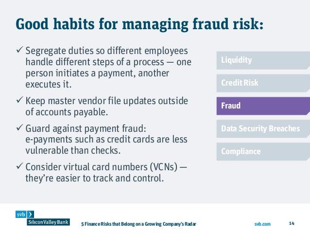 5 finance risks that belong on a growing companys radar liquidity credit risk fraud data security breaches compliance 14 svb colourmoves